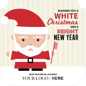 Red and Cream Santa Dental Christmas Card