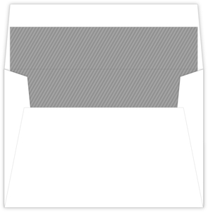 Modern Grey Stripes Envelope Liner