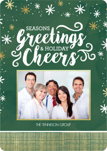 Seasons Greetings Photo Business Holiday Card