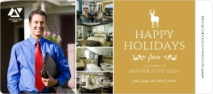 Gold Bar Business Holiday Greeting