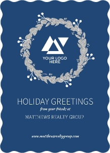 Muted Triangle Accent Real Estate Business Holiday Greeting