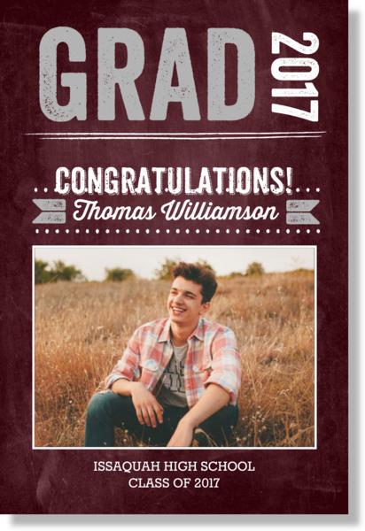 Bold Chalkboard Graduation Poster