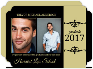 Gold and Black Formal Graduation Announcement