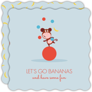 Monkey Juggling Kids Birthday Party Invitation