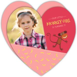 Monkey birthday invitations pink monkey girls birthday invitation filmwisefo Choice Image