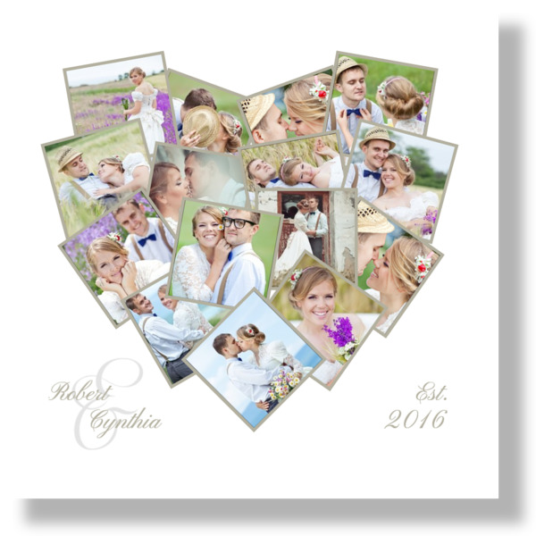Collage Heart Canvas Print