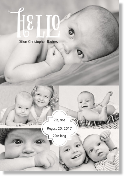 Baby Hello Canvas Print