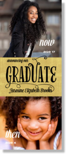 Now and Then Graduation Poster