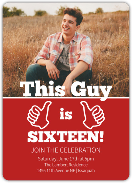 This guy birthday party invitation teen birthday invitation this guy birthday party invitation filmwisefo