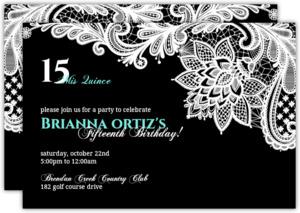 Quinceanera Invitations Custom quince invites