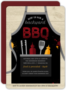 Grilling Apron BBQ Party Invitation