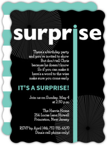 Surprise Birthday Party Invitations Purpletrail