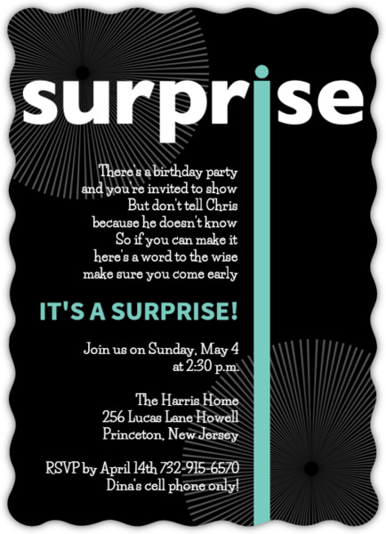 big surprise birthday party invitation 30th birthday invitations