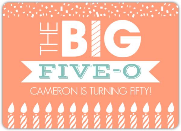 The Big Birthday Banner 50th Birthday Invitation