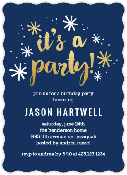 Navy and gold confetti birthday party invitation adult birthday navy and gold confetti birthday party invitation filmwisefo