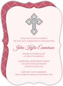 Ornate Cross Communion Invitation