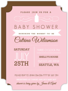 Pink Western Style Baby Shower Invite
