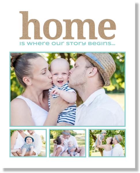 Kraft Home Framed Print