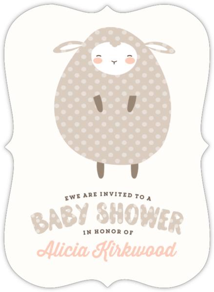 Polkadot little lamb baby shower invitation girl baby shower polkadot little lamb baby shower invitation filmwisefo