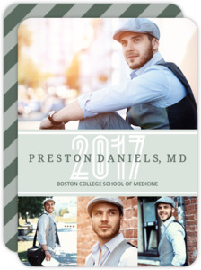 Sage Green Medical School Graduation Announcement