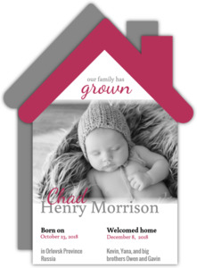 House Shaped & Photo Adoption Announcement