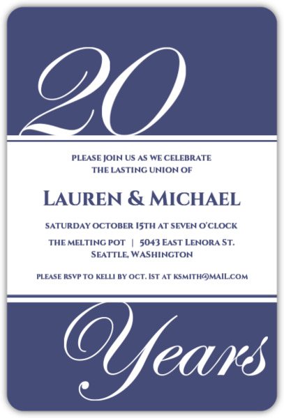 now and then photo 20th anniversary party invitation 20th
