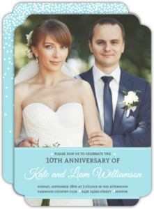 Ribbon Photo Wedding Anniversary Invitation