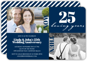 25 Loving Years Modern Squares Anniversary Invitation