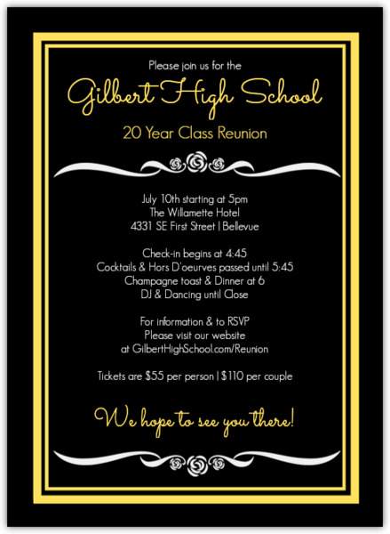 Invitation Letter To Teachers For Class Reunion