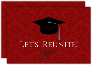Graduation Cap Let s Reunite Class Reunion Invitation