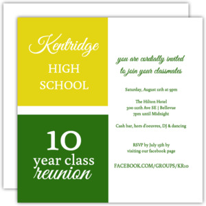 High school college class reunion invitations class reunion invitations stopboris Image collections
