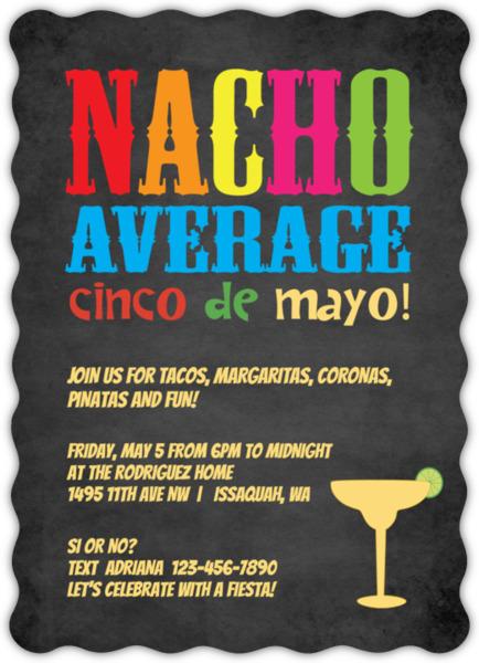 Margarita Glass Cinco De Mayo Invitation