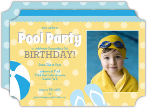 Blue and Yellow Pool Birthday Party