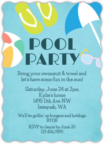 Well known Fun In The Sun Pool Party Invitation | Pool Party Invitations GY94