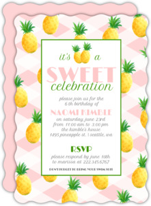 Pink & Yellow Pineapple Summer Party Invite