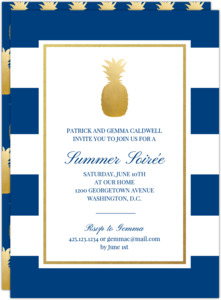 Classic Pineapple Summer Party Invitation
