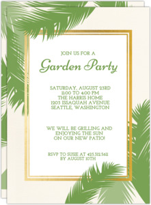 Greenery Summer Garden Party Invitation