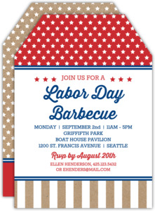 Stars and Stripes Tag Labor Day Invite