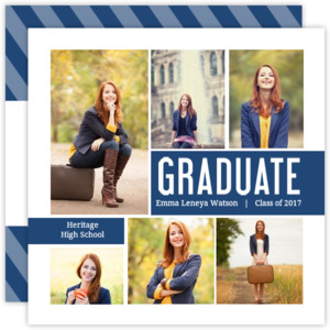 Photo Collage Block Graduation Invitation