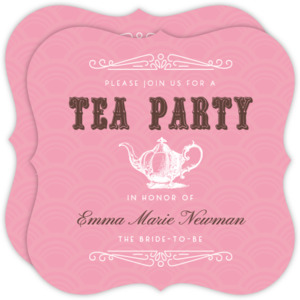 Vintage Tea Pot Tea Bridal Shower Invite