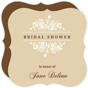 Formal Flowers Bridal Shower Invite