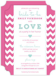 Chevron Heart Bridal Shower Invite