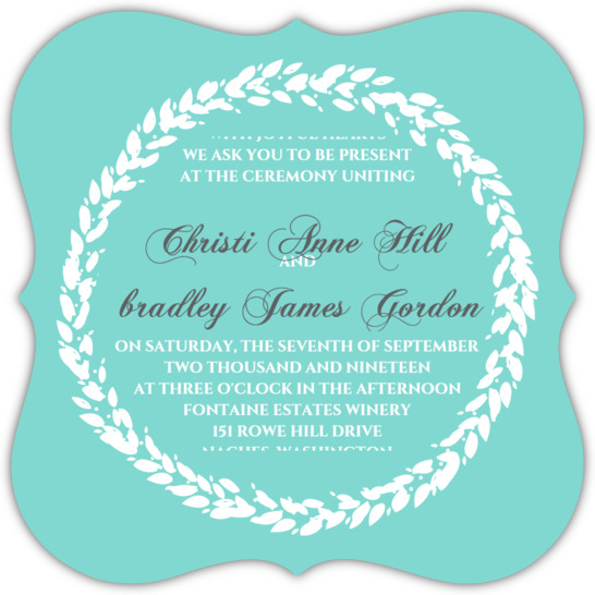 Tiffany Blue Wedding Invitations Kits: Classic Tiffany Blue Wedding Invitation