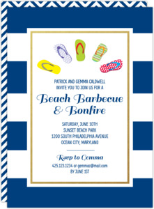 Flip Flops Beach BBQ Invitation