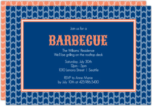 Chevron Pattern Barbecue Party Invitation