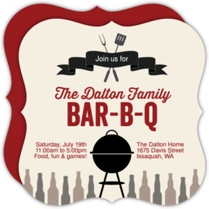 Banner and Grill BBQ Invitation