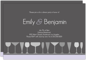 Sophisticated Gray Dinner Party Invite