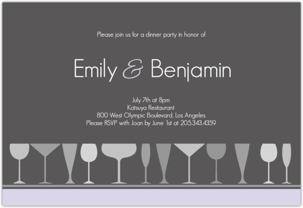 sophisticated party invitations