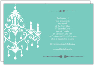 Formal Chandelier Dinner Invitation