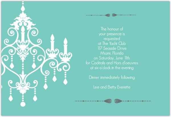 Formal chandelier dinner invitation dinner party invitations formal chandelier dinner invitation stopboris Images